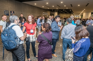 Attendees meet and greet one another at the International Congress in Hong Kong in October 2018.